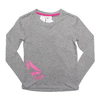 Girl's Reebok Junior Essential LS Training T-Shirt in Grey
