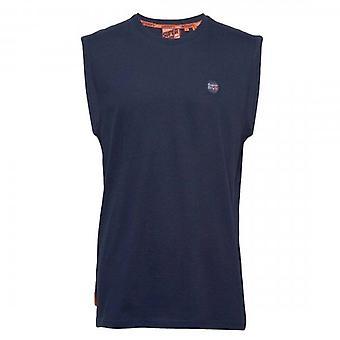 Superdry Collective Logo Oversized Vest T-Shirt Rich Navy ADQ