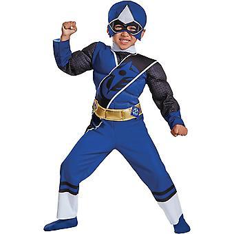 Power Ranger blå stål barn kostym