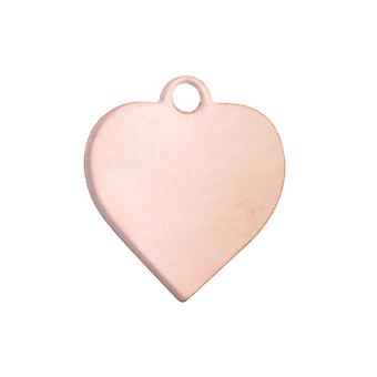 Copper Blanks Heart Pack de 6 44mm X 0.9mm Furd Top Ring