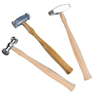 Cooksongold Economy Texturing Hammers for Metalsmiths and Craft Projects