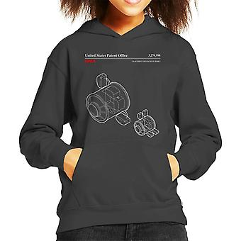 NASA Placement Of 4 Racks Node 1 Blueprint Kid's Hooded Sweatshirt