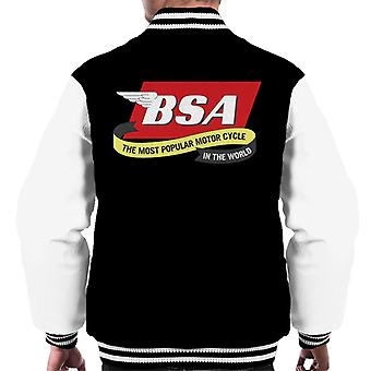 BSA The Most Popular Motorcycle In The World Men's Varsity Jacket