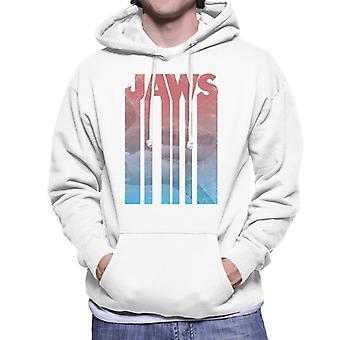 Jaws Shark Shadow Text Men's Hooded Sweatshirt