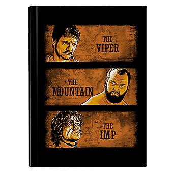 The Viper The Mountain And The Imp Game Of Thrones Hardback Journal