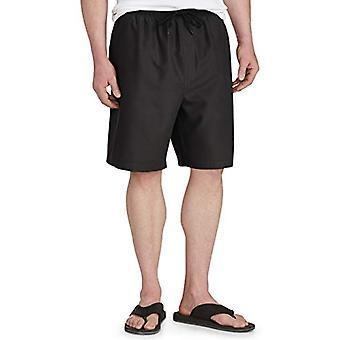 Essentials Men's Big & Tall Quick-Dry Swim Trunk fit de DXL, Black, 4XL