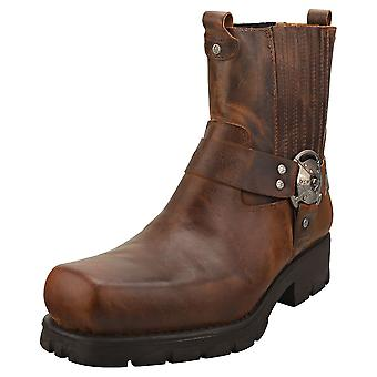 Nieuwe Rock Neobiker M-7605-s20 Unisex Platform Boots in Dark Brown