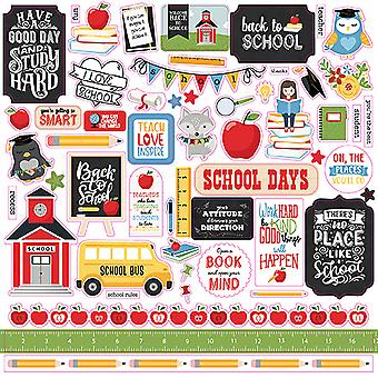 Echo Park Schule Regeln 12 x 12 Zoll Element Aufkleber