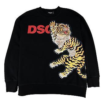 Dsquared2 große Tiger Sweatshirt Schwarz 900