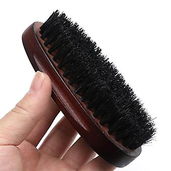 Natural Hemu Beard Brush For Men Bamboo Face Massage