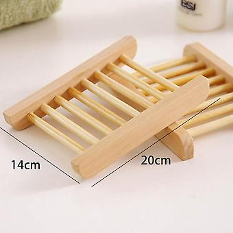 Natural Wood Soap Dish Bathroom Accessories Home Storage Organizer Bath Shower Plate Durable Portable Soap Tray Holder