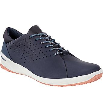 Ecco Mujeres Biom Life Cuero Casual Fashion Trainers Zapatillas Zapatillas - Azul Marino
