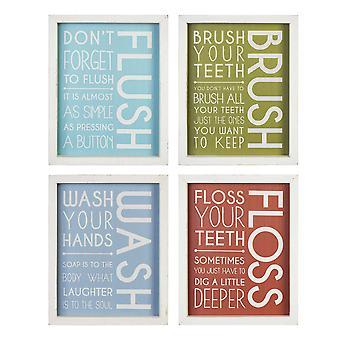"""8"""" X 10"""" Flush, Brush, Wash, Floss Framed Wall Art"""