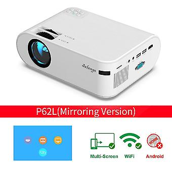 P62 Mini Projector 720p 3000 Lumens Led Video Beamer Movie Projectors (optional Phone Mirroring) Support Full Hd 1080p