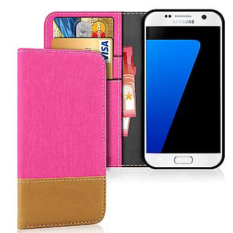 Mobilfordral Jeans for Samsung Galaxy S7 Protection Mobile Phone TPU Full Cover