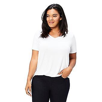 العلامة التجارية - طقوس اليومية المرأة & ق زائد حجم جيرسي قصيرة الأكمام V-الرقبة T-Sh ...