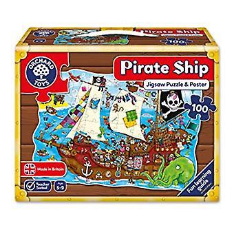 Boomgaard speelgoed piratenschip - vormige woord puzzel