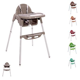 Lorelli silla alta para niños Amaro mesa de comedor doble, hueco de la taza, portapiés, correa
