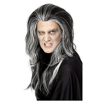 Herre gotisk vampyr paryk Halloween fancy kjole tilbehør