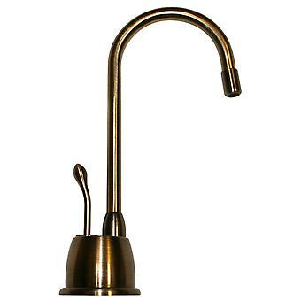 Rubinetto dell'acqua calda istantanea point of use con beccuccio a collo d'oca e maniglia di acqua calda autocondizione - Ottone antico