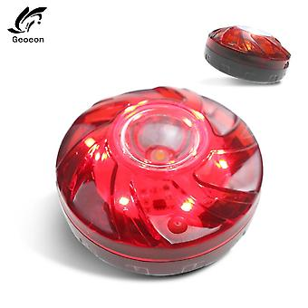 Road Safety Flare Flashing Warning Light Roadside Flares Emergency Disc Beacon With Magnetic Base For Car Marine Boat