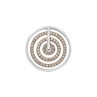 Emozioni Brass entro Coin Rose Gold plated 33mm EC494