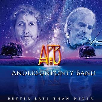 Anderson Ponty - Better Late Than Never [CD] Usa import