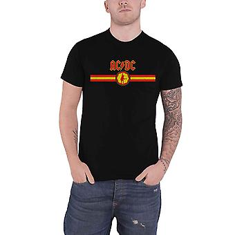 AC/DC T Shirt Band Logo and Stripe Angus new Official Mens Black