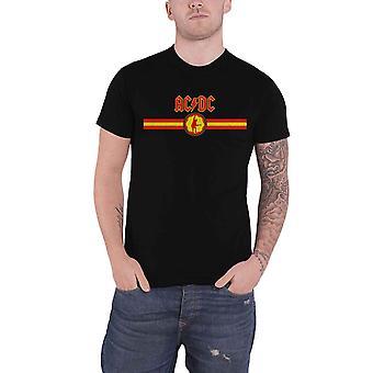 AC/DC T Shirt Band Logo et Stripe Angus nouveau officiel Mens Black