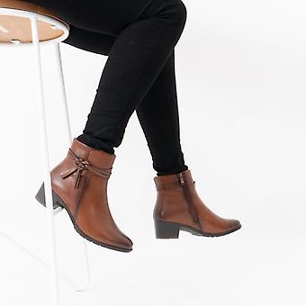Heavenly Feet Annie Ladies Ankle Boots Tan