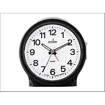 Acctim Elsie Sweeper Alarm Clock Black 15573