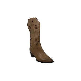 Wanted Shoes Womens Texan Pointed Toe Mid-Calf Cowboy Boots