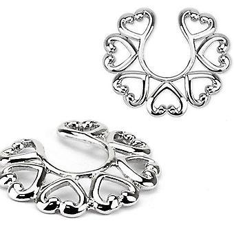 Heart shaped non-piercing nipple clip