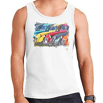 Citro?n 2CV In A Line Retro Photo Men's Vest