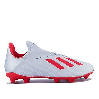 Boy's adidas Junior X 19.3 FG Fotbollsskor i Silver
