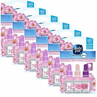 Ambi Pur 3-Volution Blossom & Breeze Air Fragrance Refill, Pack of 6, 20ml