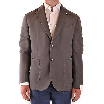 L.b.m. Ezbc215025 Men's Grey Cotton Blazer