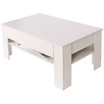 Mesa de centro prostokątny con cajon 'quot;Joy-quot; - Blanco
