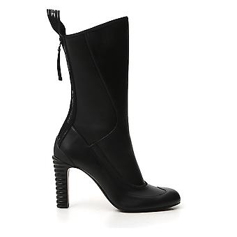 Fendi 8t8022nbaf0qa1 Women's Black Leather Ankle Boots