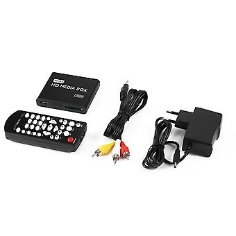 Hdmi Media Player Box, Tv Video Multimedia Player Eu Plug Usb Support