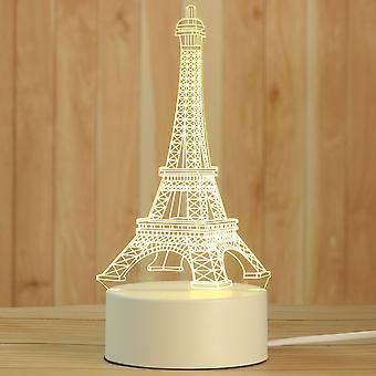 Lâmpada 3d Noturna Criativa, Luz noturna de desktop acrílico e feriado, decorativa