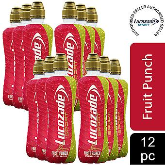 12 Pack of Lucozade Fruit Punch Apple & Raspberry Sports Drink, 500ml