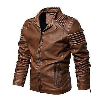 Mens Faux Leather Jackets, Classic Motorcycle Male Faux Leather Coat