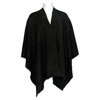 Martha Stewart Mujeres's Suéter Abierto Frente Reversible Negro A341637