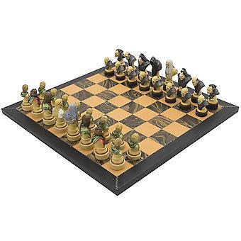 سيد الخواتم الايطالية الجلود الفاخرة مجموعة الشطرنج