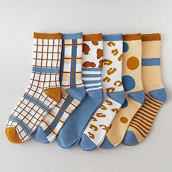 Cow Printed Crew Sock Set