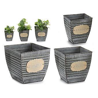 Planter tenn (3 stycken) (20 x 18