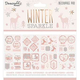 Dovecraft Winter Sparkle 8x8 Inch Decoupage Pad