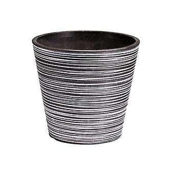 Black And White Engraved Pot