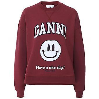 Ganni Oversized Isoli Smiley Sweatshirt